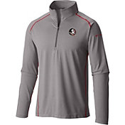 Columbia Men's Florida State Seminoles Grey Tuk Mountain Half-Zip Shirt