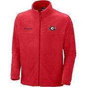 Columbia Men's Georgia Bulldogs Red Flanker II Full-Zip Fleece