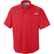 Columbia Men's Georgia Bulldogs Red Tamiami Performance Shirt