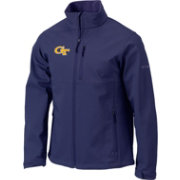 Columbia Men's Georgia Tech Yellow Jackets Blue Ascender Soft Shell Jacket