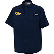 Columbia Men's Georgia Tech Yellow Jackets Navy Tamiami Short Sleeve Performance Shirt