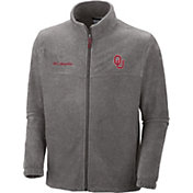 Columbia Men's Oklahoma Sooners Grey Flanker II Full-Zip Fleece