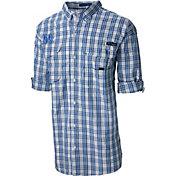 Columbia Men's Kentucky Wildcats Blue Super Bonehead Long Sleeve Shirt