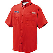 Columbia Men's Ole Miss Rebels Red Tamiami Short Sleeve Performance Shirt