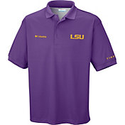 Columbia Men's LSU Tigers Purple Perfect Cast Performance Polo