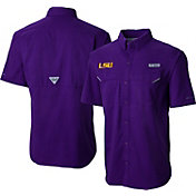 Columbia Men's LSU Tigers Purple Low Drag Offshore Performance Shirt