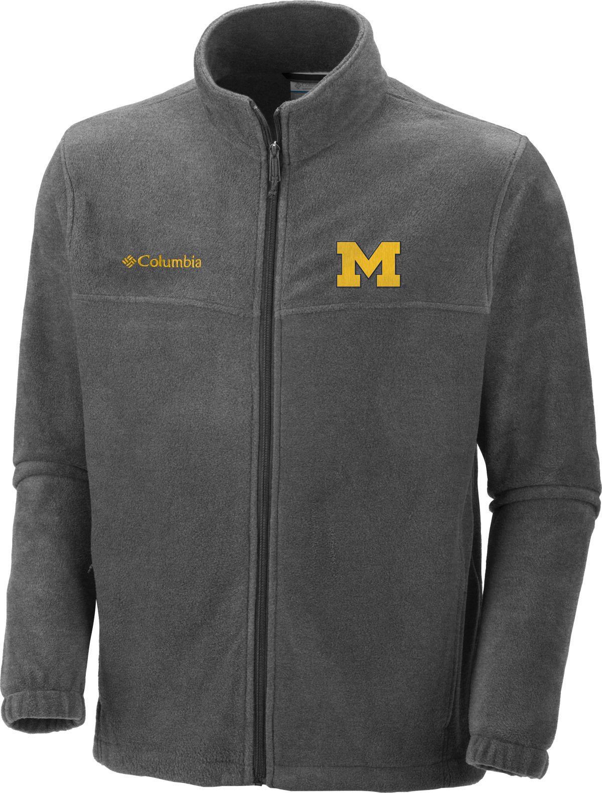 Columbia Men's Michigan Wolverines Charcoal Flanker Full-Zip ...