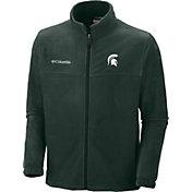 Columbia Men's Michigan State Spartans Green Flanker II Full-Zip Fleece Jacket