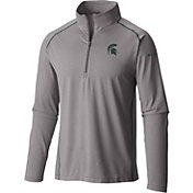 Columbia Men's Michigan State Spartans Grey Tuk Mountain Half-Zip Shirt