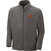 Columbia Men's Minnesota Golden Gophers Grey Flanker II Full-Zip Fleece