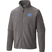 Columbia Men's UNC Tar Heels Grey Flanker II Full-Zip Fleece