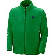 Columbia Men's Notre Dame Fighting Irish Green Flanker II Full-Zip Fleece Jacket