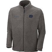 Columbia Men's Notre Dame Fighting Irish Grey Flanker II Full-Zip Fleece Jacket