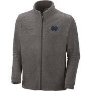 Columbia Men's Notre Dame Fighting Irish Grey Flanker II Full-Zip Fleece Jacket