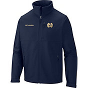 Columbia Men's Notre Dame Fighting Irish Navy Ascender Softshell Jacket