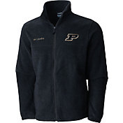 Columbia Men's Purdue Boilermakers Grey Flaker II Full-Zip Fleece