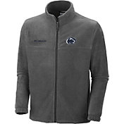 Columbia Men's Penn State Nittany Lions Charcoal Flanker Full-Zip Fleece Jacket