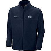 Columbia Men's Penn State Nittany Lions Navy Flanker Full-Zip Fleece Jacket