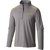 Columbia Men's Oregon Ducks Grey Tuk Mountain Half-Zip Shirt