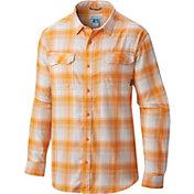 Columbia Men's Tennessee Volunteers Tennessee Orange Plaid Flare Gun Flannel Long Sleeve Shirt