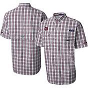 Columbia Men's Texas A&M Aggies Maroon Gingham Checkered Super Bonehead Shirt