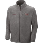 Columbia Men's Virginia Tech Hokies Grey Flanker II Full-Zip Fleece