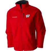 Columbia Men's Wisconsin Badgers Red Ascender Softshell Jacket