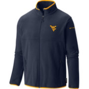 Columbia Men's West Virginia Mountaineers Blue Fuller Ridge Fleece Jacket
