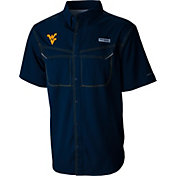 Columbia Men's West Virginia Mountaineers Blue Low Drag Offshore Performance Shirt