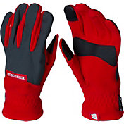 Columbia Wisconsin Badgers Overlay Gloves