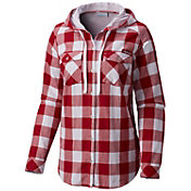 Columbia Women's Alabama Crimson Tide Crimson Times Two Hooded Long Sleeve Shirt