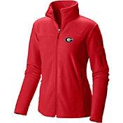 Columbia Women's Georgia Bulldogs Red Give and Go Full-Zip Fleece
