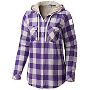 Columbia Women's LSU Tigers Purple Times Two Hooded Long Sleeve Shirt