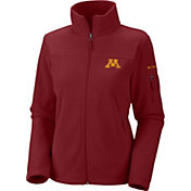 Columbia Women's Minnesota Golden Gophers Maroon Give and Go Full-Zip Fleece