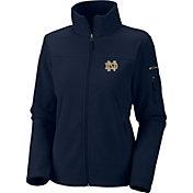 Columbia Women's Notre Dame Fighting Irish Give and Go Navy Full-Zip Fleece