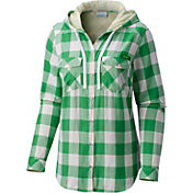 Columbia Women's Oregon Ducks Green Times Two Hooded Long Sleeve Shirt