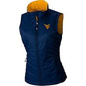 Columbia Women's West Virginia Mountaineers Blue Reversible Powder Puff Vest