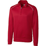 Cutter & Buck Men's CB WeatherTec Ridge Quarter-Zip Long Sleeve Golf Pullover
