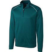 Cutter & Buck Men's CB WeatherTec Ridge Quarter-Zip Long Sleeve Golf Pullover