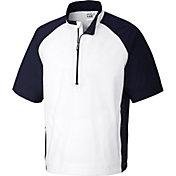 Cutter & Buck Men's CB WeatherTec Summit Quarter-Zip Short Sleeve Golf Pullover