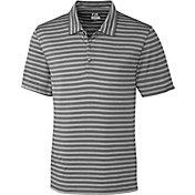 Cutter & Buck Men's CB DryTec Tilton Melange Stripe Golf Polo