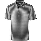Cutter & Buck Men's CB DryTec Tilton Melange Stripe Golf Polo