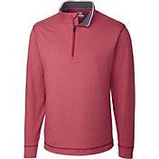 Cutter & Buck Men's CB DryTec Topspin Quarter-Zip Long Sleeve Golf Pullover