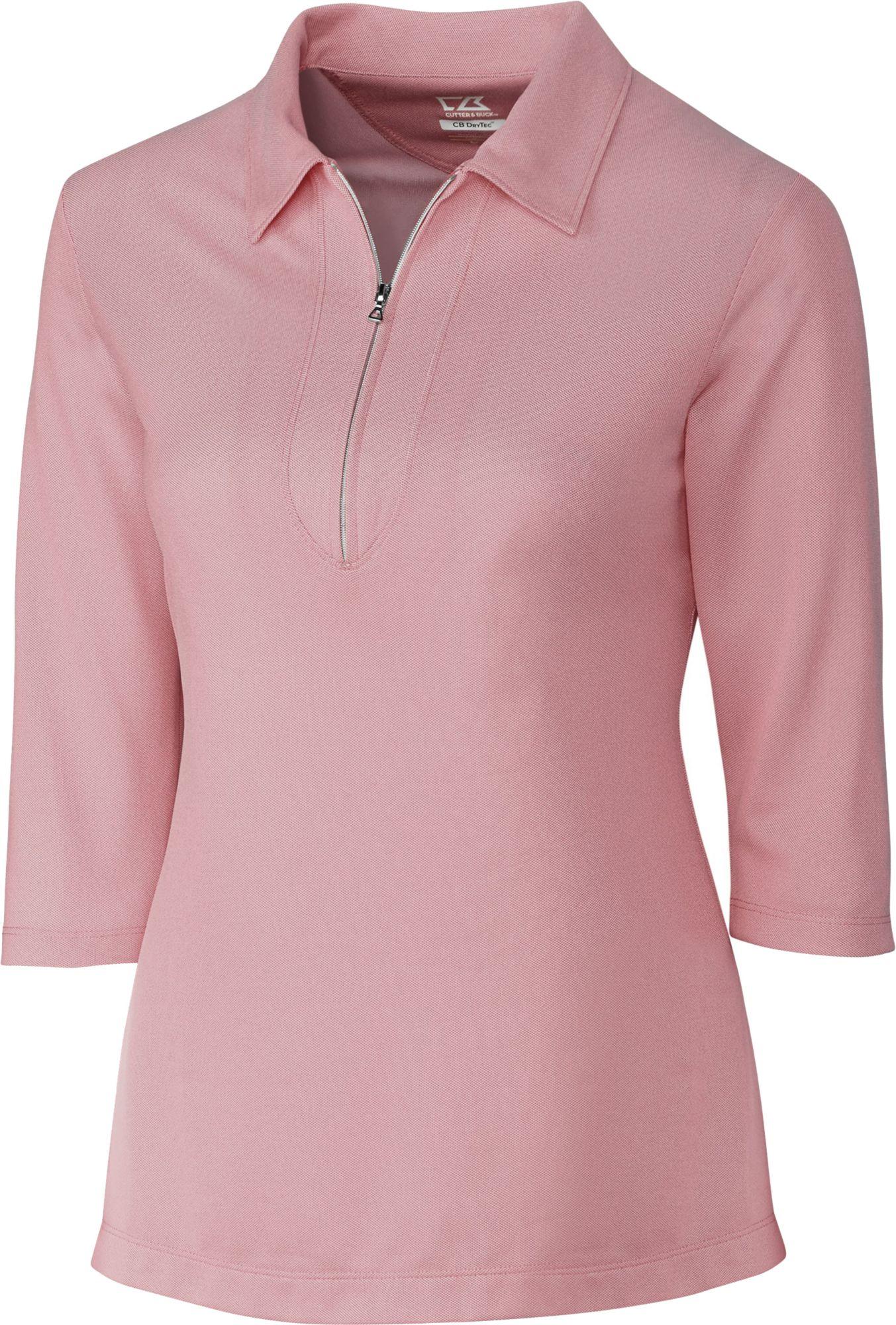 Cutter & Buck Women's Blaine Oxford Three-Quarter Sleeve Zip Golf Polo.  0:00. 0:00 / 0:00. noImageFound ???