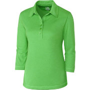 Cutter & Buck Women's DryTec Three-Quarter Sleeve Chelan Golf Polo