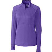 Cutter & Buck Women's Long Sleeve Hamden Jacquard Half-Zip Golf Pullover