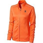 Cutter & Buck Women's Detroit Tigers Orange Ridge WeatherTec Full-Zip Jacket