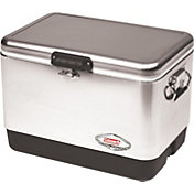 Coleman Stainless Steel Belted 54 Quart Chest Cooler