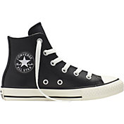 Converse Kids' Preschool Chuck Taylor All Star Leather Wool Hi-Top Casual Shoes