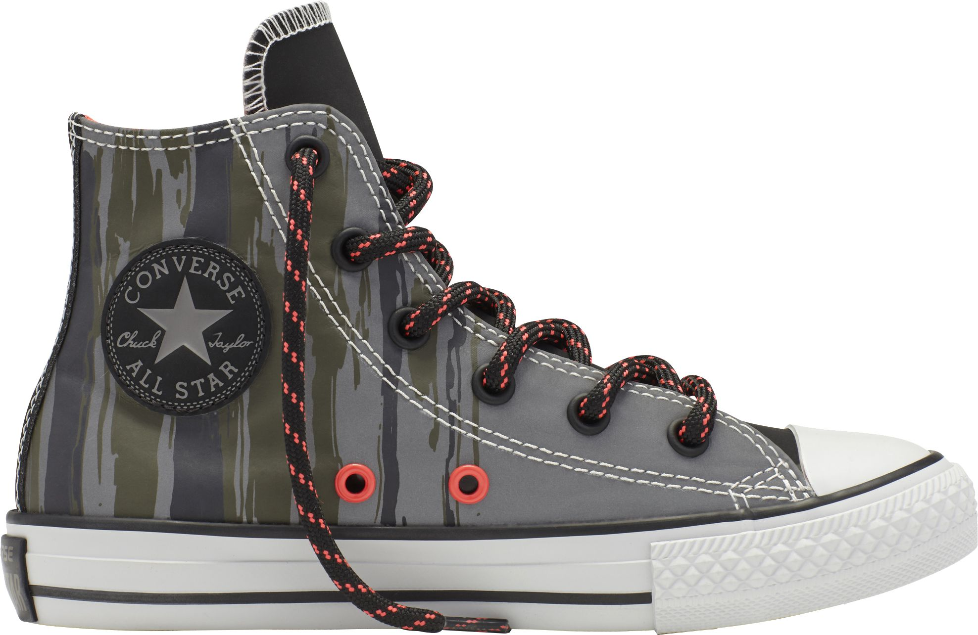 converse shoes high tops. product image · converse kids\u0027 grade school chuck taylor all star high-top flash flood casual shoes high tops